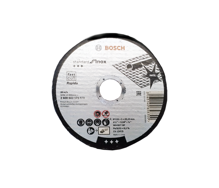 Rezna ploča INOX 125x1