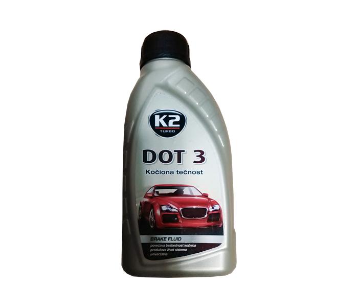 Ulje za hidraulične kočnice DOT 3,0.5l K2