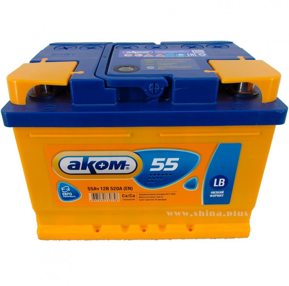 Akumulator VP premium AKOM 12v 55Ah D+