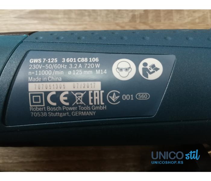 Električna brusilica GWS 7 - 125 13004