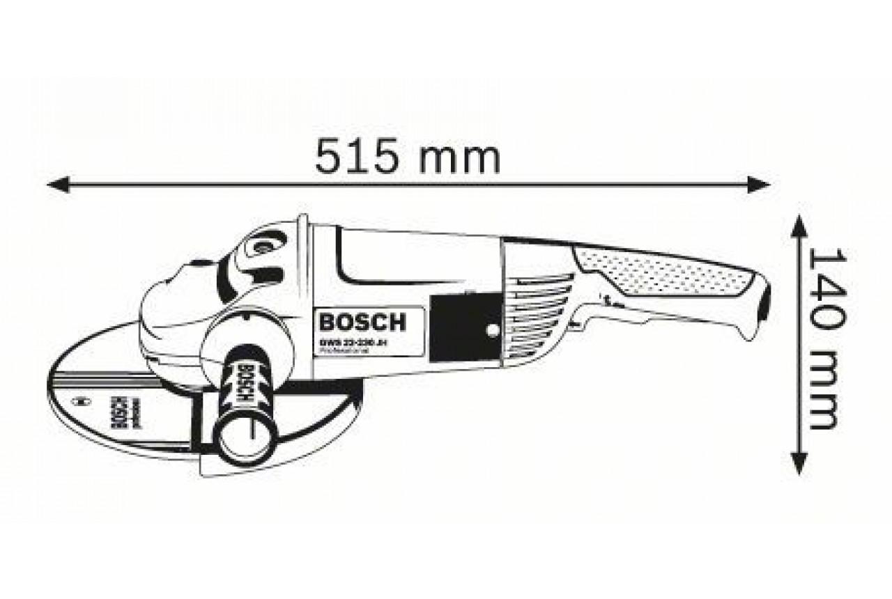 Električna brusilica GWS 22-230 H