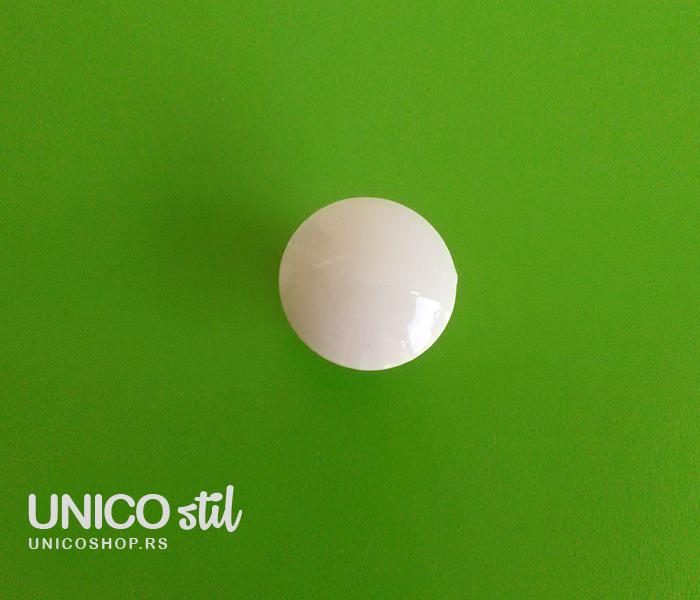 Ručica dugme - bela