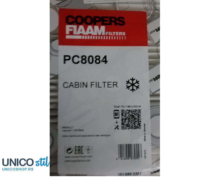Filter kabine PC8084 Coopers