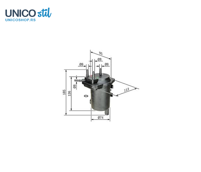 Filter goriva 0450907013 Bosch