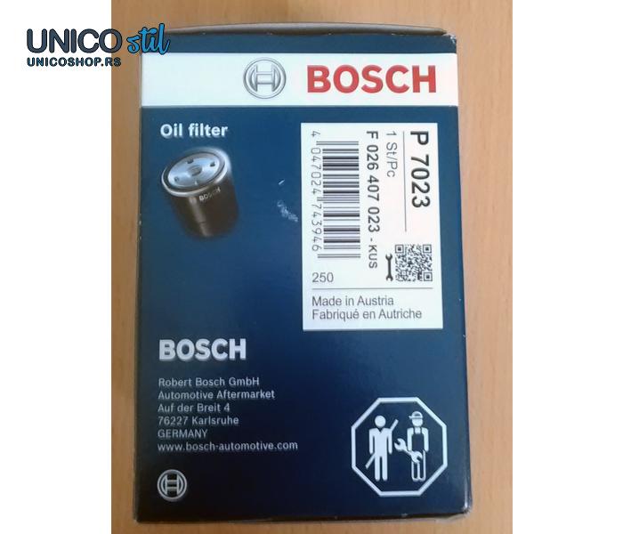 Filter ulja F026407023 Bosch