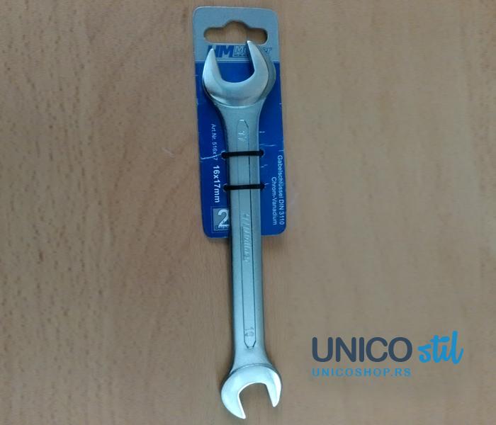 Viljuškasti ključ 16-17mm