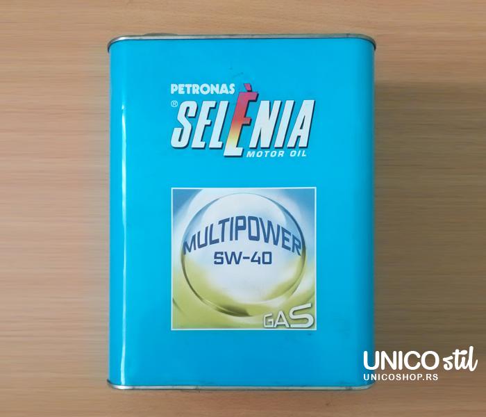 Selenia multipower gas 5W40 synth 2L