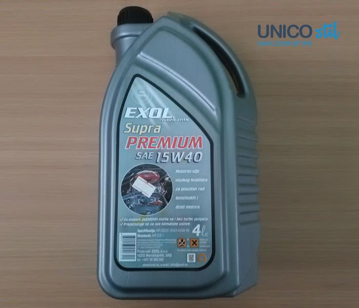 Exol supra Premium SAE 15W40 4/1