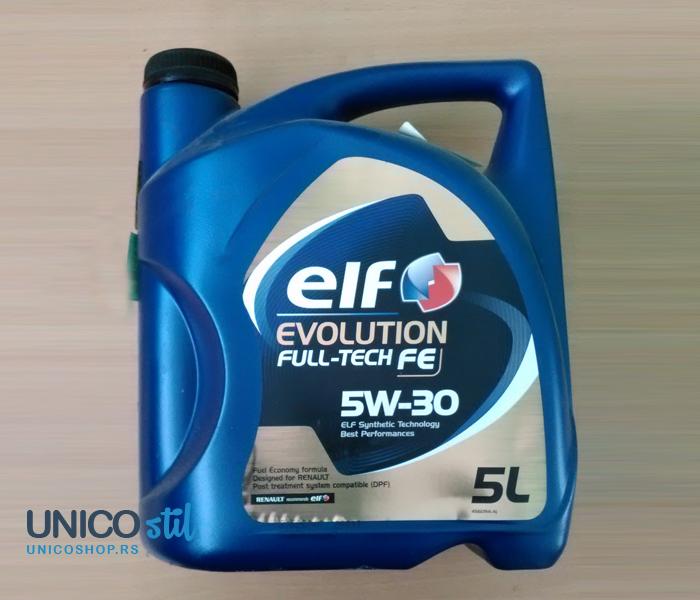 Ulje za motor 5W30 EVOLUTION fulltech FE 5L ELF