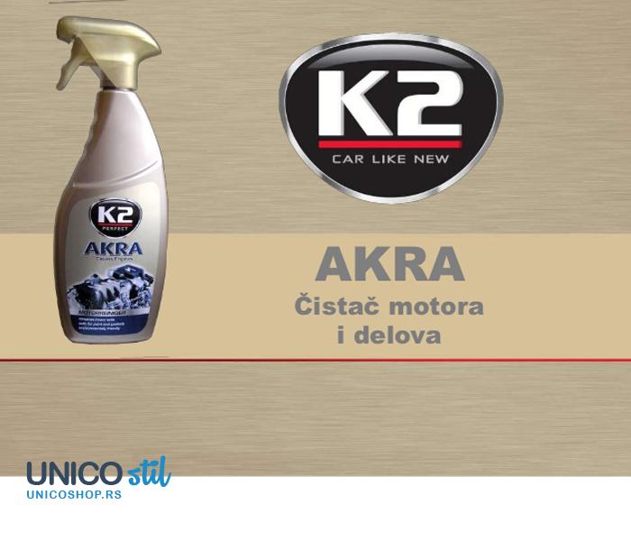 Tečnost za čišćenje motora 770ml Akra K2