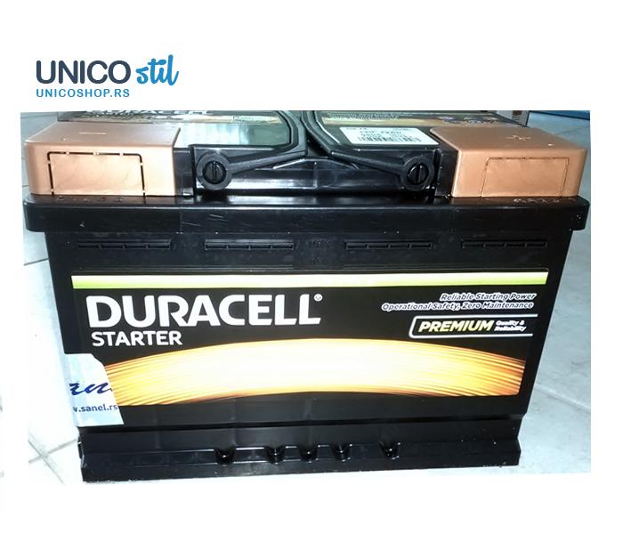 Akumulator Duracell Starter 12v,72ah, D+640A DS 72