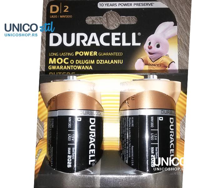 Baterija Duracell Basic D 2kom Duralock