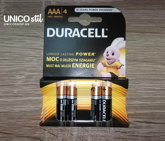 Baterija Duracell Basic AAA 4kom