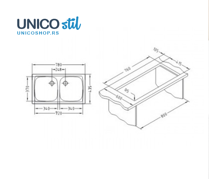 Sudoper BASIC 160NAI-90-078X43M2SNO
